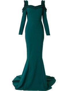 вечернее платье с плиссированной отделкой Greta Constantine