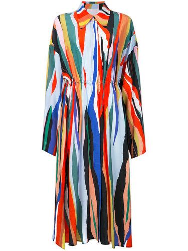 плиссированное полосатое платье Solace