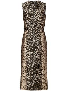 приталенное платье с леопардовым узором J. Mendel