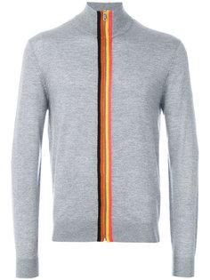 свитер на молнии с радужной окантовкой Paul Smith