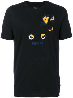футболка с вышивкой Bag Bugs Fendi