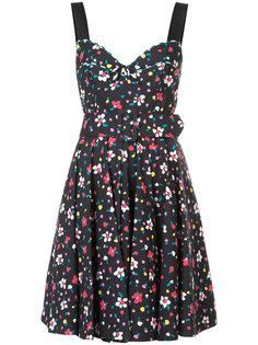 корсетное платье с цветочным принтом Marc Jacobs