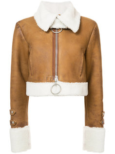 куртка из овчины с вышивкой Off-White