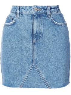 джинсовая юбка с необработанным краем  Anine Bing