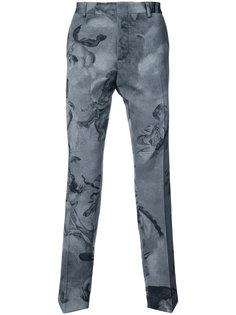брюки с принтом ангелов Moschino