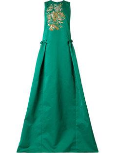 платье с вышивкой пайетками  Rochas