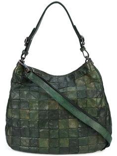 текстурированная сумка-тоут с узором Campomaggi