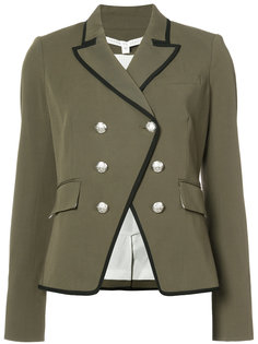 двубортный пиджак в стиле милитари Veronica Beard