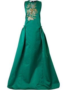 пышное платье с вышивкой  Antonio Berardi