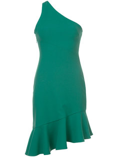 платье на одно плечо с оборками Cinq A Sept