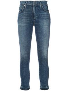 укороченные джинсы с протертостями Citizens Of Humanity