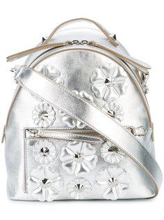 сумка на плечо с цветочной вышивкой Fendi