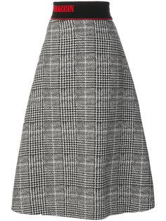 юбка миди с вышивкой  Fendi