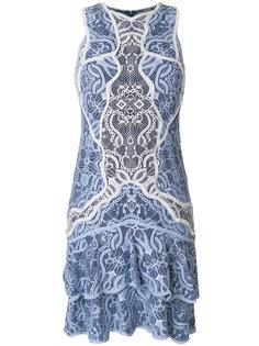 кружевное платье с оборкой  Jonathan Simkhai