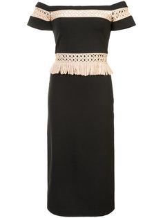 приталенное платье с открытыми плечами Alexis