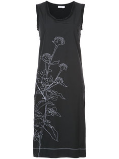 платье шифт с цветочным принтом Jil Sander