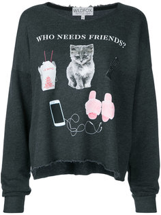футболка Who Needs Friends Wildfox