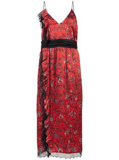 платье с узором и оборками Cinq A Sept