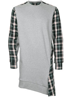 checkered long sweatshirt Moohong