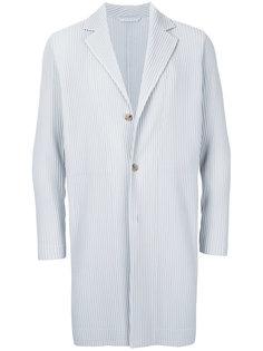 плиссированное пальто на пуговицах Homme Plissé Issey Miyake