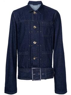 джинсовая куртка с ремнем Maison Mihara Yasuhiro