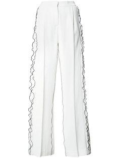 широкие брюки с оборками Derek Lam