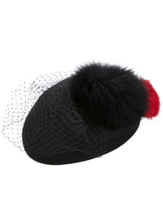 шапка с меховыми деталями Federica Moretti