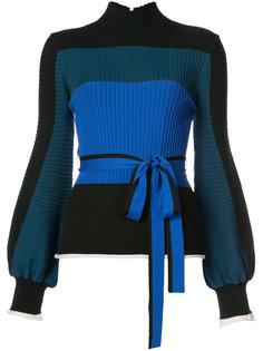свитер в рубчик с широкими рукавами Roksanda