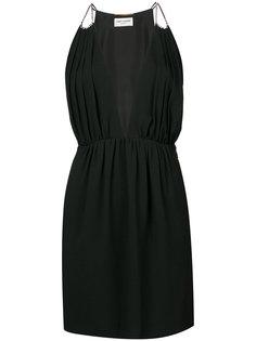 классическое приталенное платье Saint Laurent