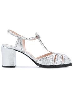 сандалии с металлическим отблеском Fendi