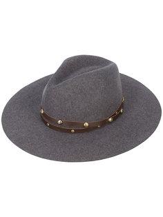 классическая широкополая шляпа с заклепками Sensi Studio
