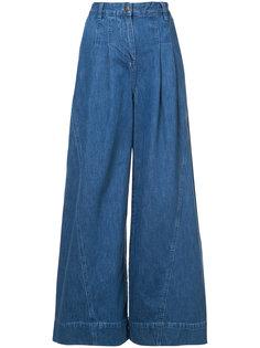 широкие джинсовые кюлоты Ulla Johnson