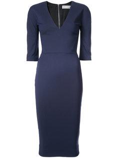 приталенное платье с V-образным вырезом Victoria Beckham
