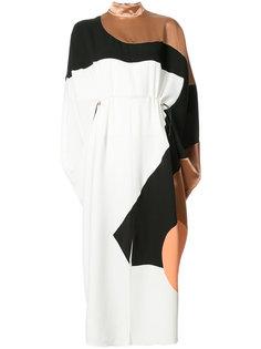платье макси с геометричным дизайном и драпировкой Roksanda