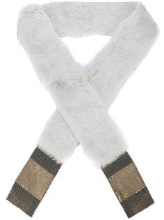 шарф из кроличьего меха Laura B