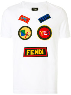 футболка с нашивками Fendi
