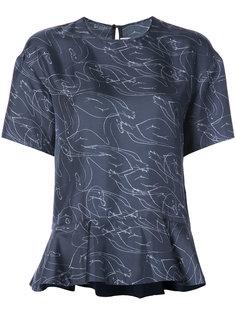 блузка с принтом Victoria Victoria Beckham