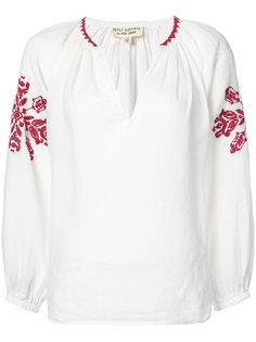 блузка с вышивкой  Nili Lotan