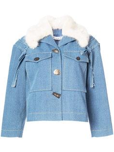 джинсовая куртка с меховым воротником Rejina Pyo