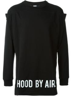 толстовка с панелью с логотипом Hood By Air