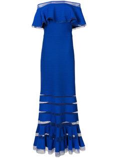 ребристое платье со спущенными рукавами  Tadashi Shoji
