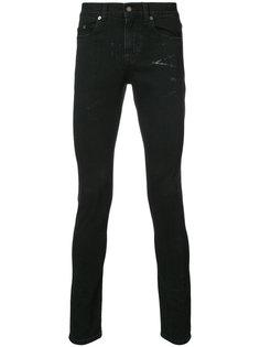 джинсы скинни с эффектом потертости Saint Laurent