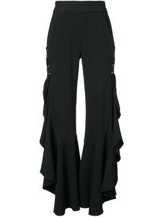 расклешенные брюки с оборками Jonathan Simkhai