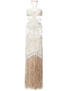 декорированное вечернее платье с вырезными деталями Jonathan Simkhai