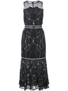 кружевное приталенное платье Jonathan Simkhai