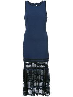 приталенное кружевное платье Jonathan Simkhai