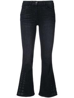расклешенные укороченные брюки 3X1