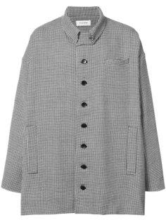 объемное пальто в ломаную клетку Chin Mens