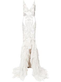 прозрачное декорированное платье Jonathan Simkhai