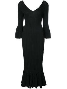 длинное платье в рубчик Jonathan Simkhai